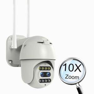 دوربین سیم کارتی 4g چرخشی 10X zoom